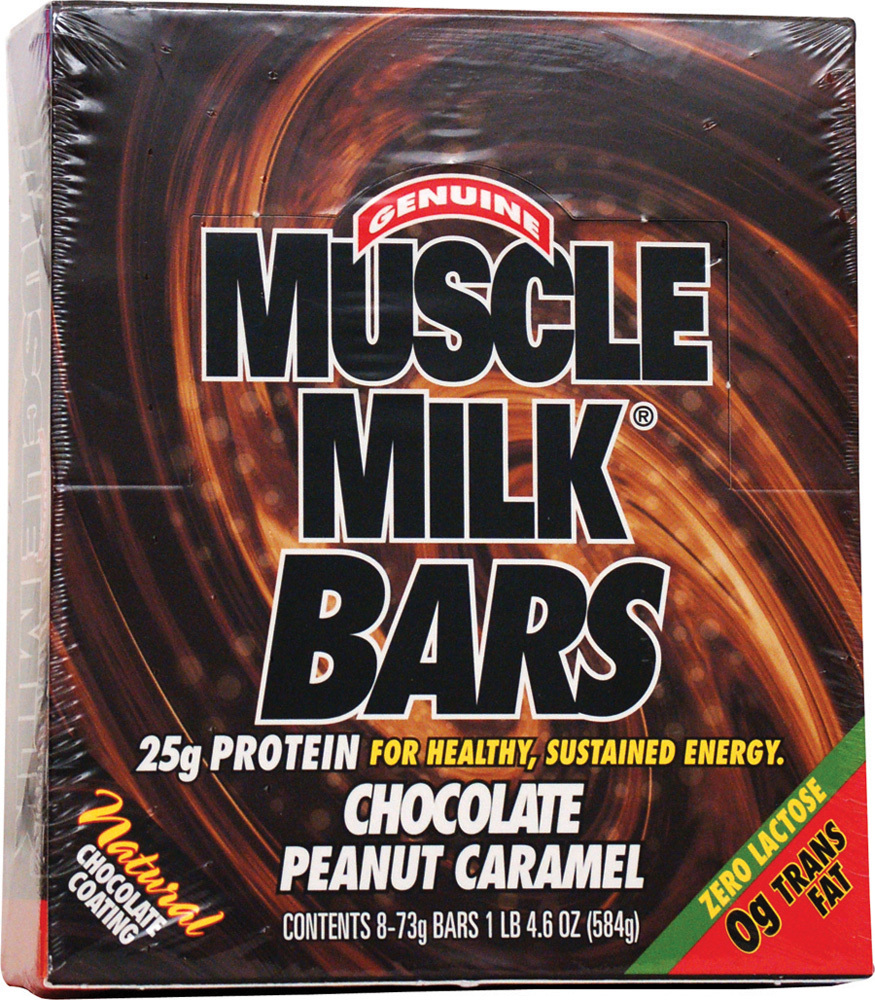 Muscle Milk Bars, 8 Bars, Chocolate Peanut Caramel Flavor 660726506219