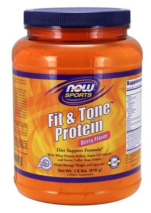 NOW Foods Fit & Tone Protein, 1.8 Pounds