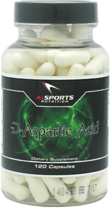 AI Sports D-Aspartic Acid, 120 Capsules
