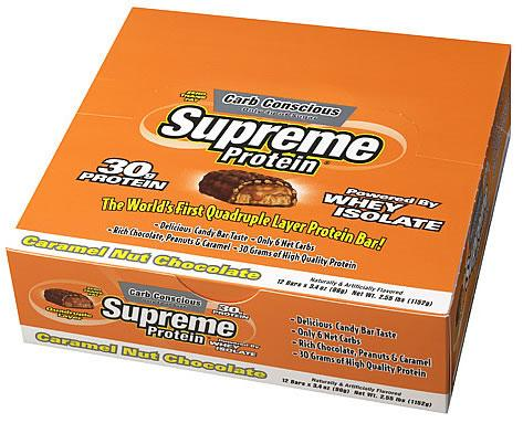 Supreme Protein Inc Supreme Bar (Carb Conscious), 12 Bars